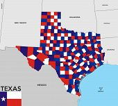 picture of texas map  - united states of america texas republic political map with flag - JPG