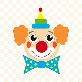 image of clown face  - happy clown face - JPG