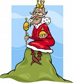picture of proverb  - Cartoon Humor Concept Illustration of King of the Hill Saying or Proverb - JPG