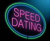 Speed Dating Concept.