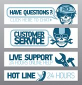 Customer service live support banners
