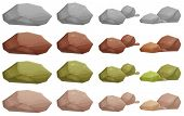 image of natural resources  - Illustration of the different rocks on a white background - JPG
