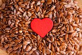 stock photo of flax seed  - diet healthcare concept - JPG