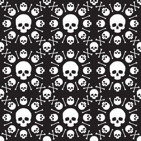 stock photo of skull crossbones  - Skull and crossbones pattern - JPG