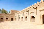 image of oasis  - Famous Jahili fort in Al Ain oasis - JPG