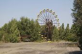 picture of reactor  - Ferris wheel in Pripyat  - JPG