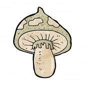stock photo of toadstools  - cartoon toadstool - JPG