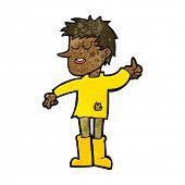 foto of attitude boy  - cartoon poor boy with positive attitude - JPG
