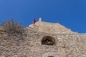 stock photo of constantinople  - Remains of the famous ancient walls of Constantinople in Istanbul - JPG