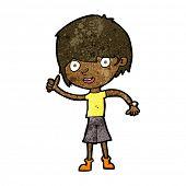 pic of attitude boy  - cartoon boy with positive attitude - JPG