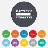 picture of e-cig  - Smoking sign icon - JPG