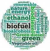 picture of biogas  - Biofuel in word collage - JPG