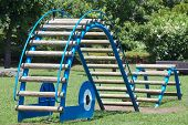 pic of pubic  - children playground at pubic park in summer season - JPG