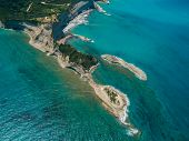 image of sidari  - Aerial view on Sidari in Corfu Kerkyra Greece - JPG