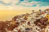 picture of blue-bell  - the famous blue and white city Oia - JPG