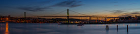 foto of dartmouth  - Panorama of Angus L. Macdonald Bridge that connects Halifax to Dartmouth (Nova Scotia Canada) ** Note: Soft Focus at 100%, best at smaller sizes - JPG