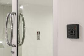 image of keypad  - Door Access Control Keypad With Keycard Reader - JPG