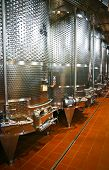 stock photo of fermentation  - Fermentation vats in a winery in Friuli Italy - JPG