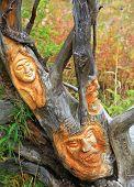 stock photo of woodcarving  - HIGH TATRAS SLOVAKIA  - JPG