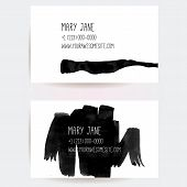 pic of scribes  - Set of creative business card templates with minimalistic vector design - JPG
