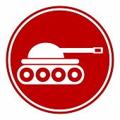picture of panzer  - Panzer button on white background - JPG