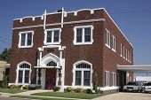 picture of funeral home  - Classic funeral home in the southern US - JPG