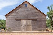 image of wooden shack  - A wooden farm shed - JPG