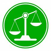 pic of magistrate  - Scale button on white background - JPG