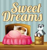 foto of sweet dreams  - Poster giving a message of sweet dreams - JPG