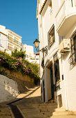 pic of costa blanca  - Street in old town Altea Costa Blanca Spain - JPG