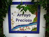 picture of mural  - Colourful tile or mural Sign on rural road - JPG