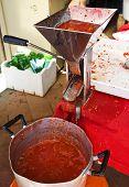 Tomato sauce passata home made poster
