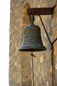 stock photo of sounding-rod  - an old bronz bell of a church