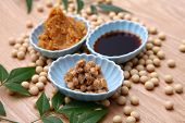 stock photo of soybeans  - group shot of Natto - JPG
