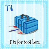 stock photo of letter t  - Letter T is for tool box - JPG