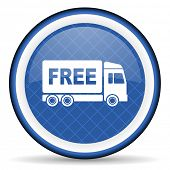 image of free-trade  - free delivery blue icon transport sign  - JPG