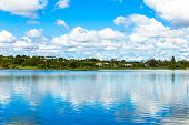 stock photo of brasilia  - Paranoa Lake in Brasilia - JPG