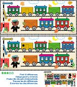 picture of railroad car  - Toy train visual puzzle - JPG