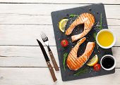 picture of condiment  - Grilled salmon - JPG