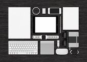 image of mouse  - Template technology mockup for corporate branding identity - JPG