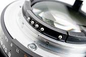 pic of contact lenses  - closeup details of camera lens Lens contacts - JPG