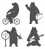 Постер, плакат: Sign Fun Bears