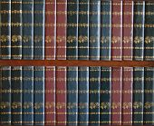 foto of illiteracy  - background of empty red and blue book covers - JPG