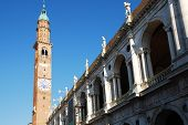 stock photo of vicenza  - The Basilica Palladiana in Piazza dei Signori Vicenza Italy - JPG