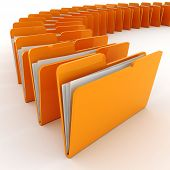 stock photo of file folders  - 3d colorfull folders - JPG