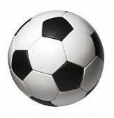 Постер, плакат: Изолированные футбольный мяч с отсечения путь