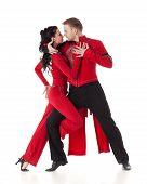 Постер, плакат: Танцы молодая пара