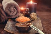 Chocolate Spa, Mask, Bath salt, brown sugar scrub for healthy body and face skin. Aromatherapy. Luxu poster