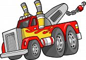 stock photo of tow-truck  - Tow Truck Vector Illustration - JPG