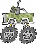 pic of monster-truck  - Monster Truck Vector Illustration - JPG
